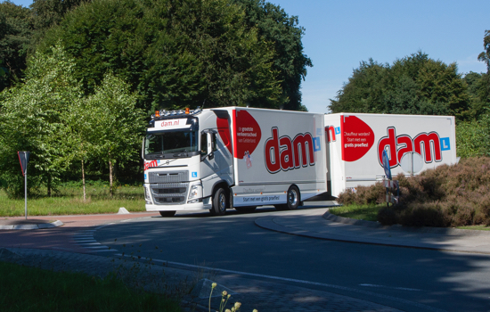 Beroepsopleiding vrachtwagen met aanhanger